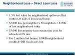 neighborhood loss direct loan loss