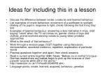 ideas for including this in a lesson16