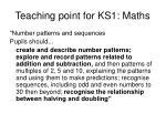 teaching point for ks1 maths