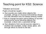 teaching point for ks2 science