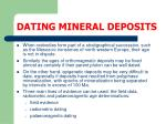 dating mineral deposits