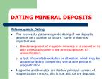 dating mineral deposits44