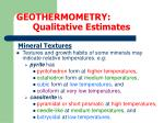 geothermometry qualitative estimates7