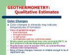 geothermometry qualitative estimates8