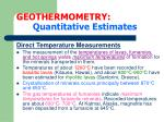 geothermometry quantitative estimates