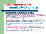 geothermometry quantitative estimates