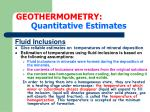 geothermometry quantitative estimates10