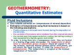 geothermometry quantitative estimates10