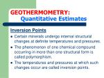 geothermometry quantitative estimates11