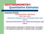 geothermometry quantitative estimates12