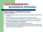 geothermometry quantitative estimates16