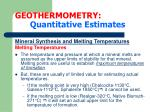 geothermometry quantitative estimates17