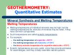 geothermometry quantitative estimates18
