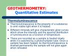 geothermometry quantitative estimates23