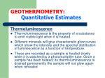 geothermometry quantitative estimates23