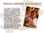peking garden restaurant