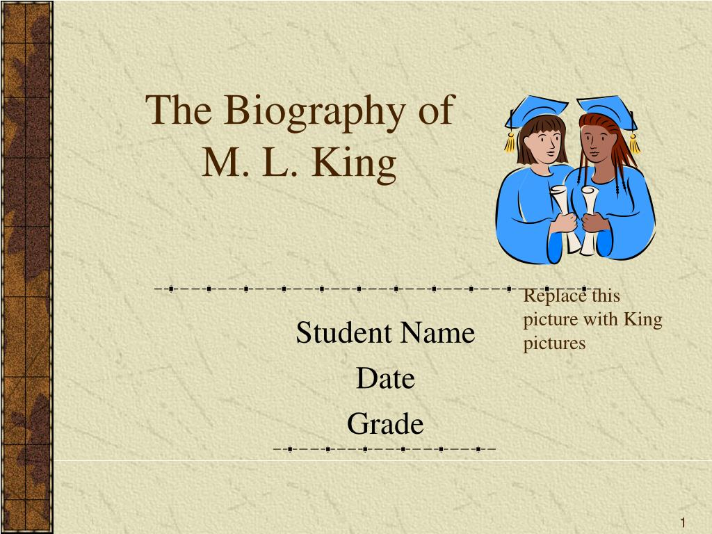 the biography of m l king l.