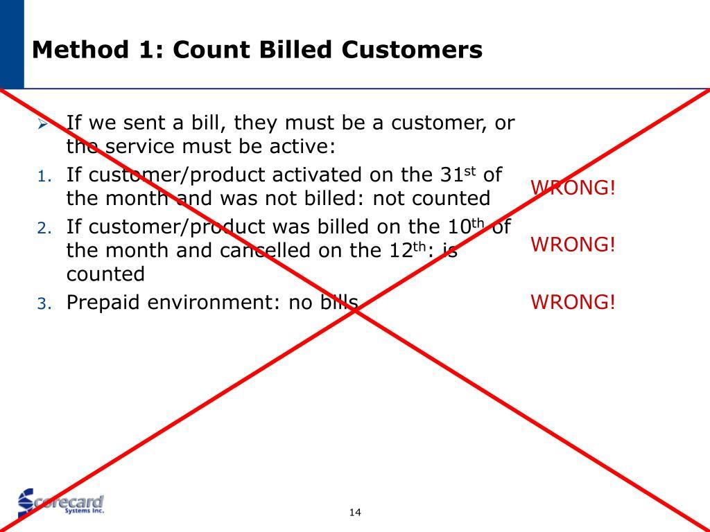 Method 1: Count Billed Customers
