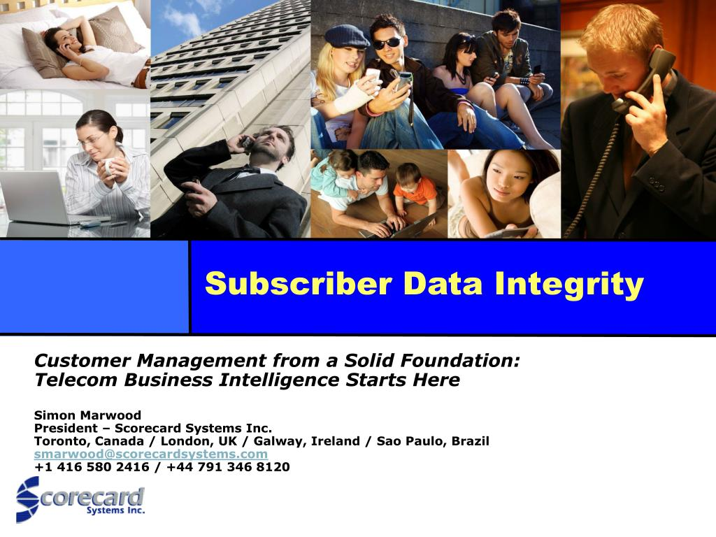 subscriber data integrity l.