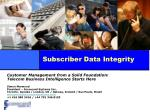 subscriber data integrity