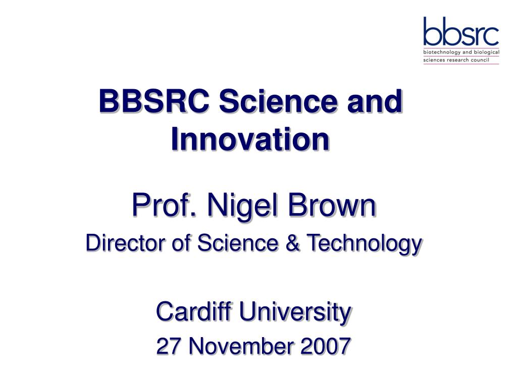 bbsrc science and innovation l.
