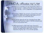 hmda effective 10 1 09