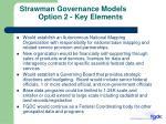 strawman governance models option 2 key elements
