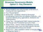 strawman governance models option 3 key elements