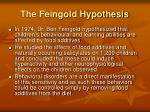 the feingold hypothesis