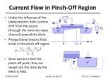 current flow in pinch off region