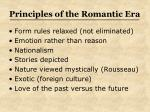 principles of the romantic era
