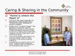 caring sharing in the community