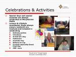 celebrations activities