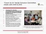 count us in social inclusion committee meets with doh dhs