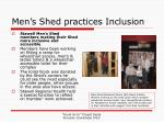 men s shed practices inclusion