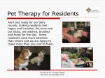 pet therapy for residents