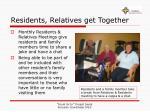 residents relatives get together