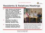 residents relatives meetings