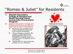 romeo juliet for residents