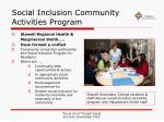 social inclusion community activities program