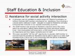 staff education inclusion