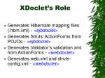 xdoclet s role
