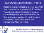 background on resolutions