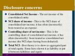 disclosure concerns