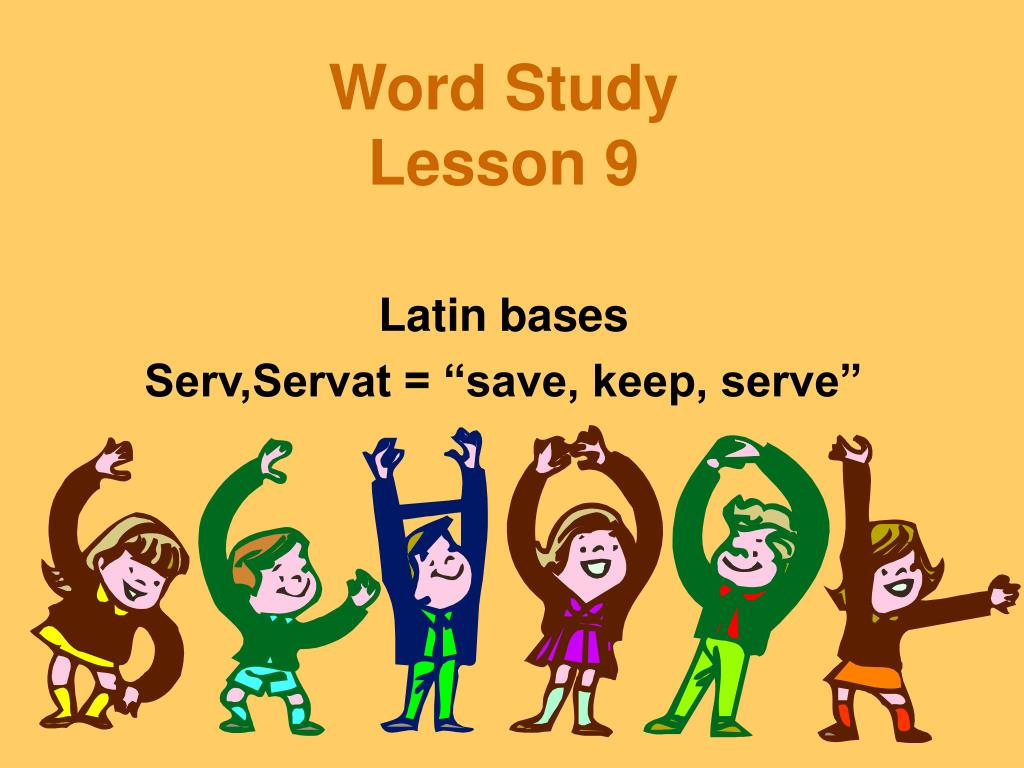 word study lesson 9 l.