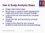 hair scalp analysis steps