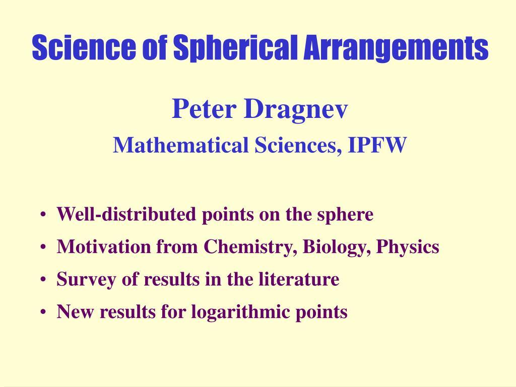 science of spherical arrangements l.