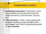 constructions contd