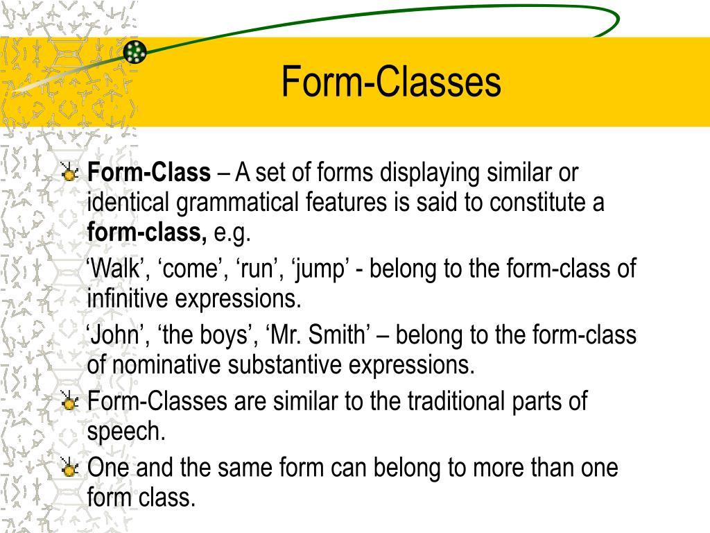 Form-Classes
