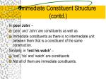 immediate constituent structure contd15